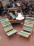 Great chalk-painted sandchairs