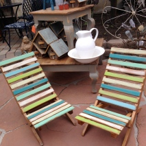 Great chalk-painted sand chairs