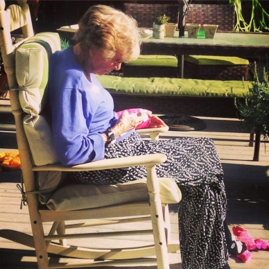 My Grama sure loved to sit outside and admire the yard