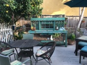 New outdoor kitchen/potting table